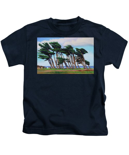 Monterey Cypress Row  Kids T-Shirt
