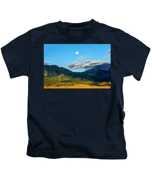 Moon Over Electric Mountain Kids T-Shirt