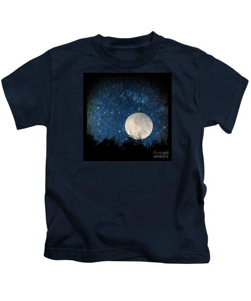Moon, Tree And Stars Kids T-Shirt