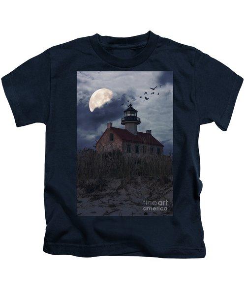 Moonlight At East Point Kids T-Shirt