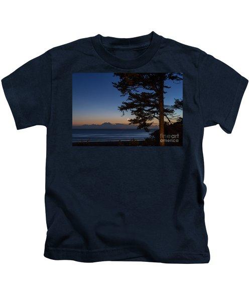 Moonlight At The Beach Kids T-Shirt
