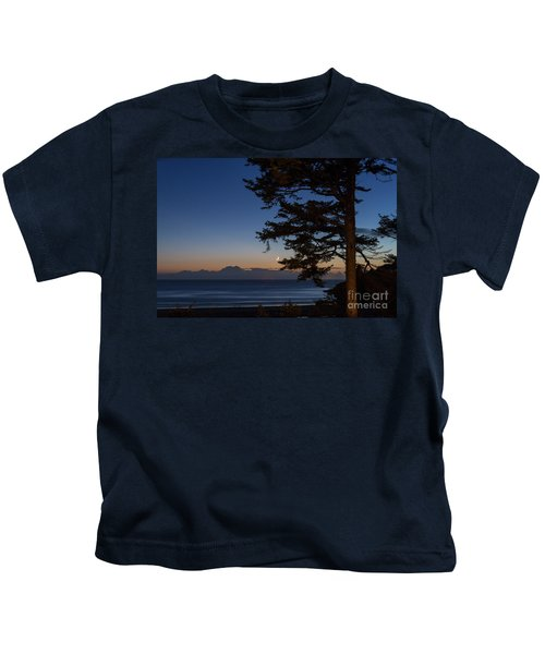 Moonlight At The Beach Kids T-Shirt