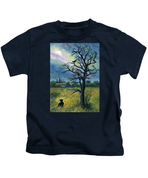 Moonlight Prowl Kids T-Shirt