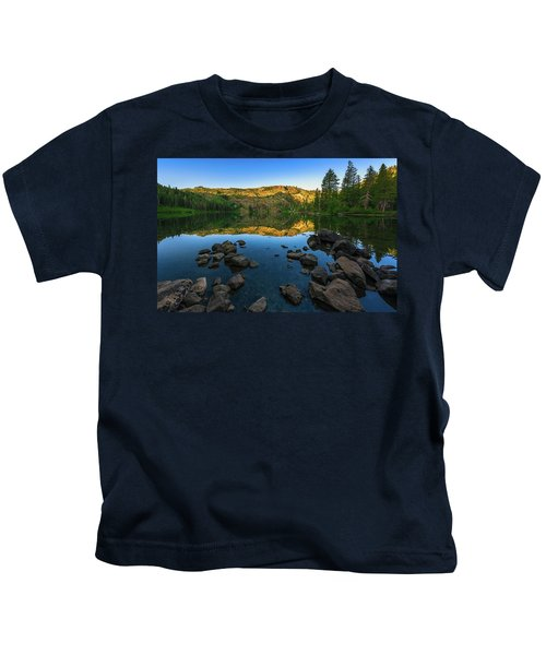 Morning Reflection On Castle Lake Kids T-Shirt