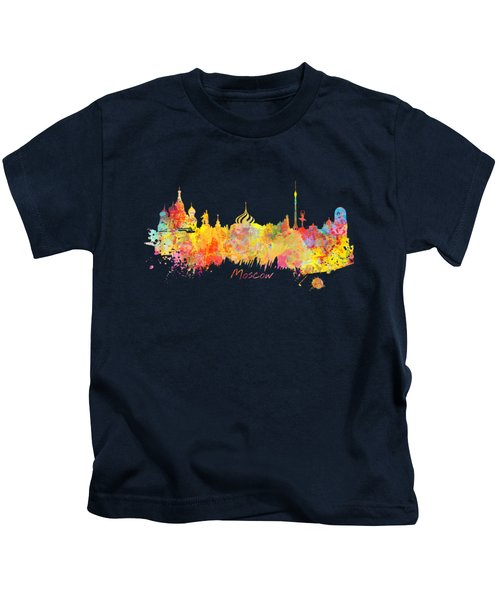 Moscow Skyline  Kids T-Shirt by Justyna JBJart