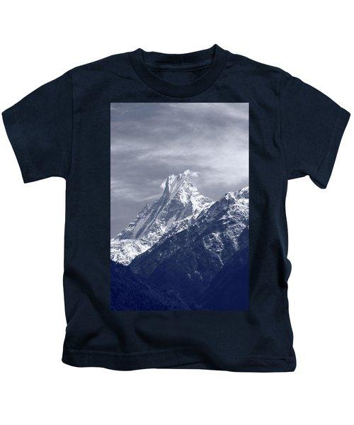 Mount Machapuchare, The Himalayas, Nepal Kids T-Shirt