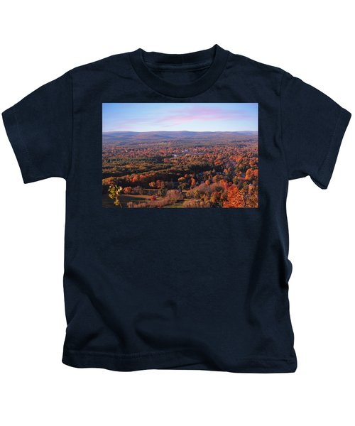 Mount Tom View, Easthampton, Ma Kids T-Shirt