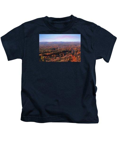 Mount Tom View, Easthampton, Ma Kids T-Shirt