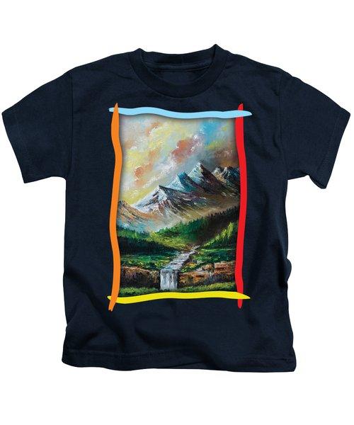 Mountains And Falls Kids T-Shirt