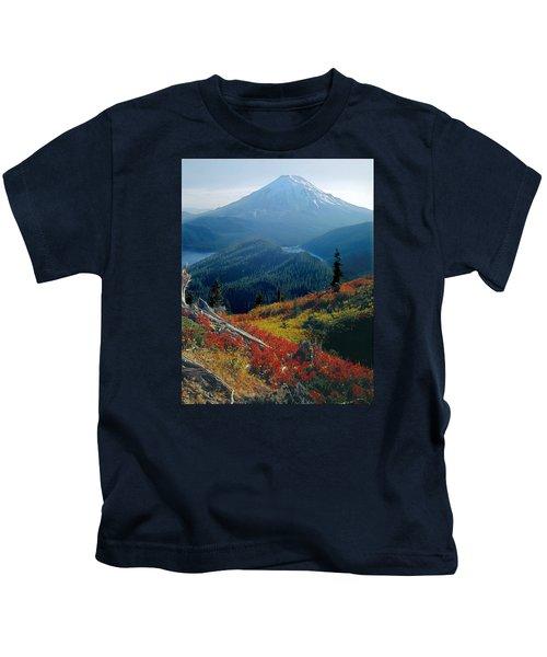 1m4903-mt. St. Helens 1975  Kids T-Shirt