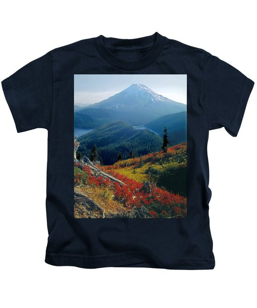 1m4903-mt. St. Helens 1975  Kids T-Shirt