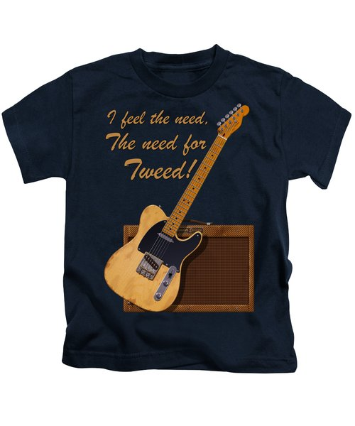 Need For Tweed Tele T Shirt Kids T-Shirt