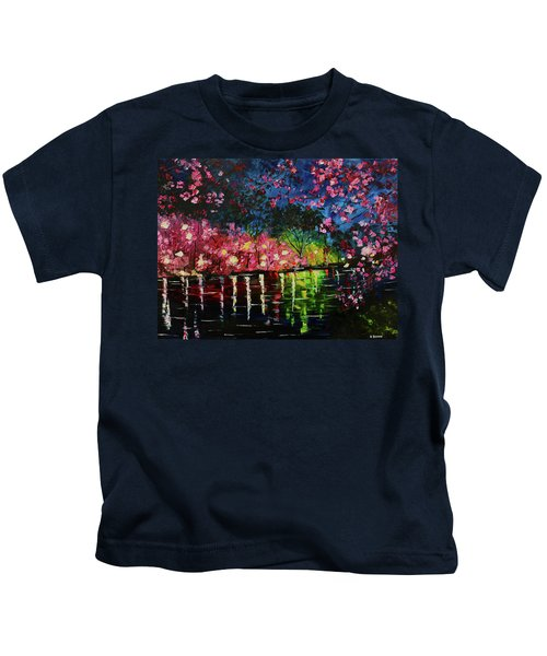 Nighttime Pink Kids T-Shirt