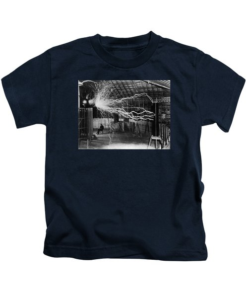 Nikola Tesla - Bolts Of Electricity Kids T-Shirt