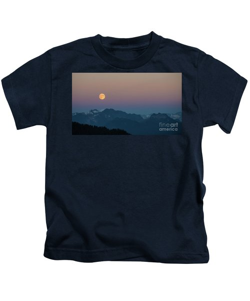 North Cascades Full Moonrise Kids T-Shirt