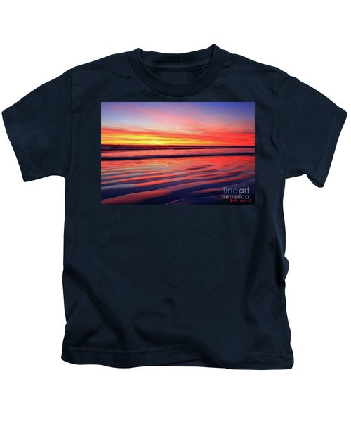 Oceanside Sand Ripples Kids T-Shirt