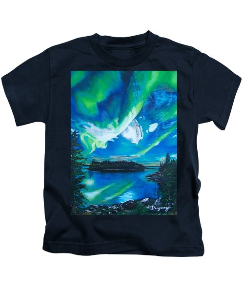 Northern Lights  Kids T-Shirt