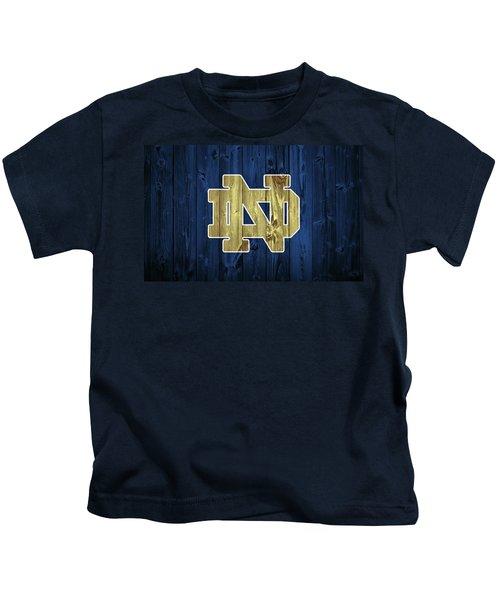 Notre Dame Barn Door Kids T-Shirt