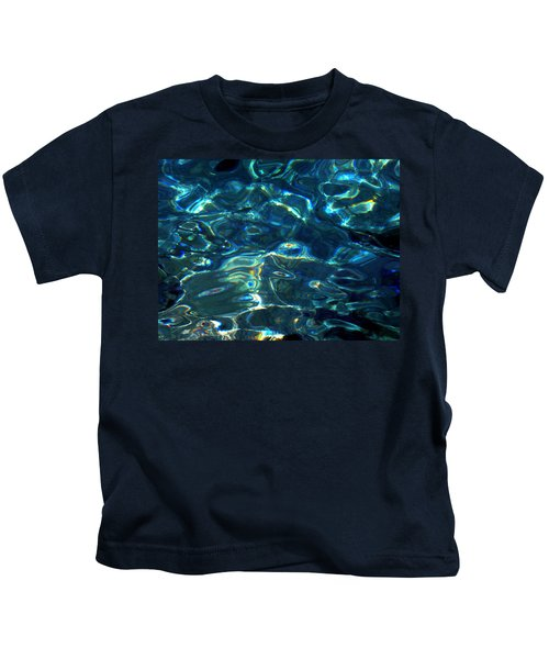 Kids T-Shirt featuring the photograph Ocean Water Reflections Island Santorini Greece by Colette V Hera  Guggenheim