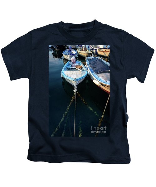 Old Fishing Boats Of The Adriatic Kids T-Shirt