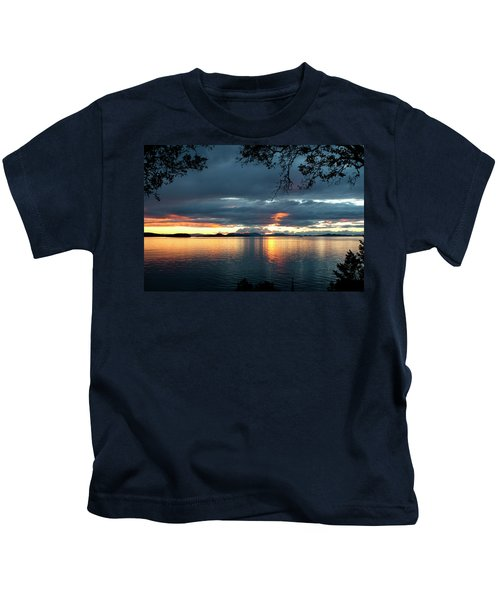 Orcas Island Sunset Kids T-Shirt