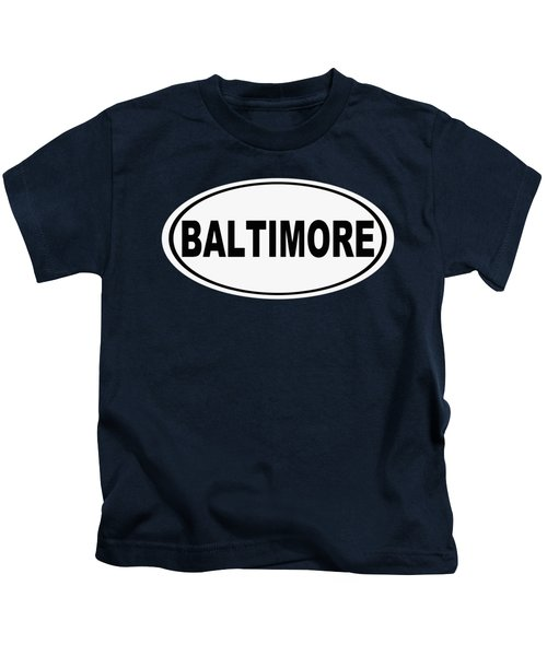 Oval Baltimore Maryland Home Pride Kids T-Shirt
