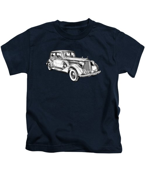 Packard Luxury Antique Car Illustration Kids T-Shirt