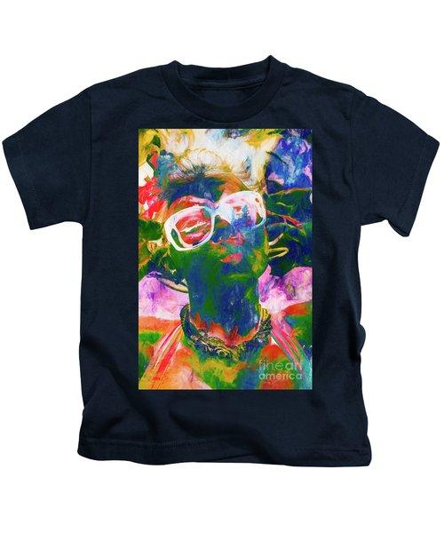 Paint Splash Pinup Art Kids T-Shirt