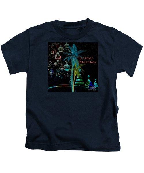 Palm Trees Season's Greetings Kids T-Shirt
