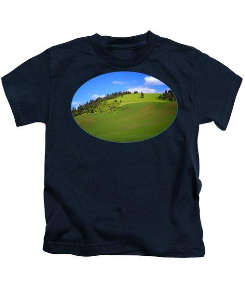 Palouse - Landscape - Transparent Kids T-Shirt