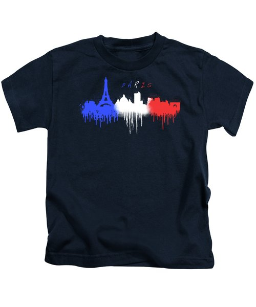 Paris Skyline  Kids T-Shirt