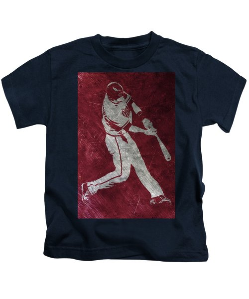 Paul Goldschmidt Arizona Diamondbacks Art Kids T-Shirt by Joe Hamilton
