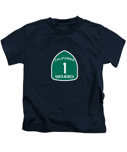 Pch 1 Santa Monica Kids T-Shirt by Brian's T-shirts