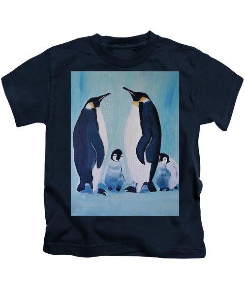 Penguin Family  Kids T-Shirt