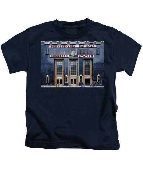 Pennsylvania Railroad Suburban Station Kids T-Shirt