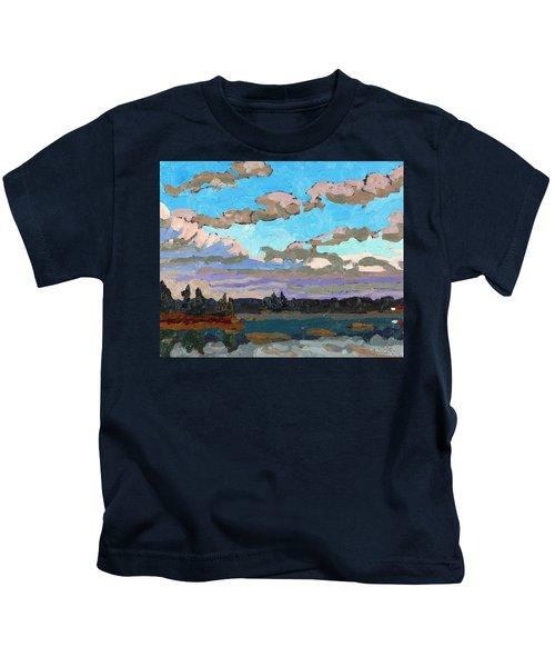 Pensive Clouds Kids T-Shirt