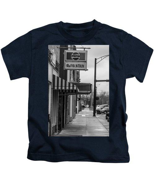 Pepsi The Fountain Sign Kids T-Shirt