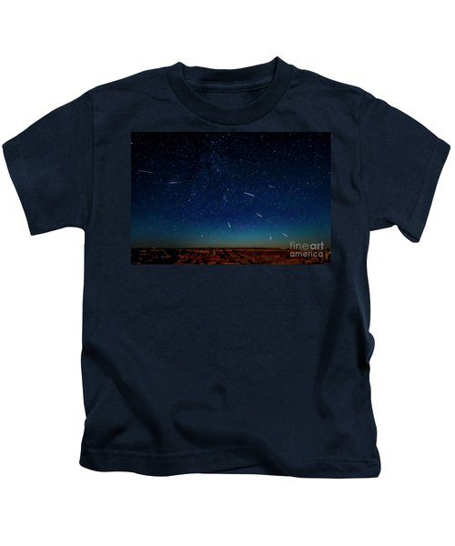 Perseid Meteor Shower Kids T-Shirt