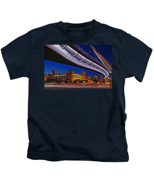 Petco Park And The Harbor Drive Pedestrian Bridge In Downtown San Diego  Kids T-Shirt