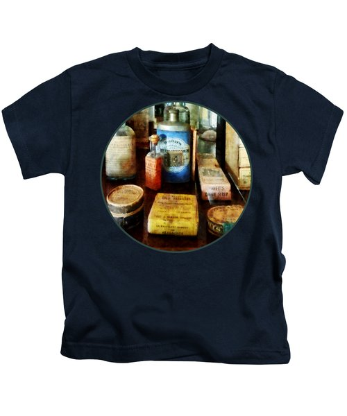 Pharmacy - Cough Remedies And Tooth Powder Kids T-Shirt