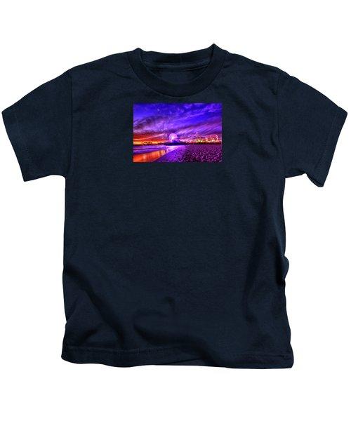 Pier Of Lights Kids T-Shirt