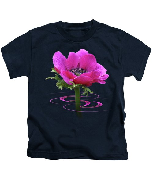 Pink Anemone Whirl Kids T-Shirt
