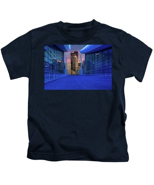 Pittsburgh In Blue  Kids T-Shirt