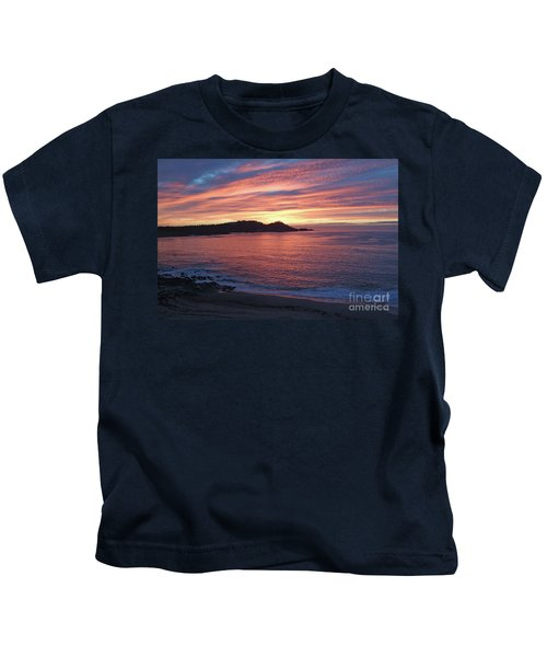 Point Lobos Red Sunset Kids T-Shirt