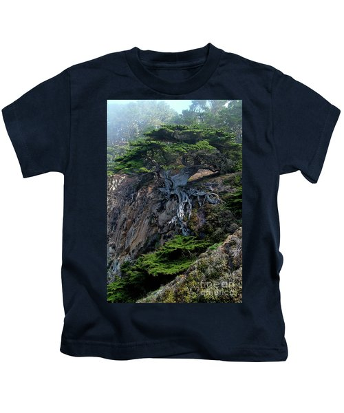 Point Lobos Veteran Cypress Tree Kids T-Shirt