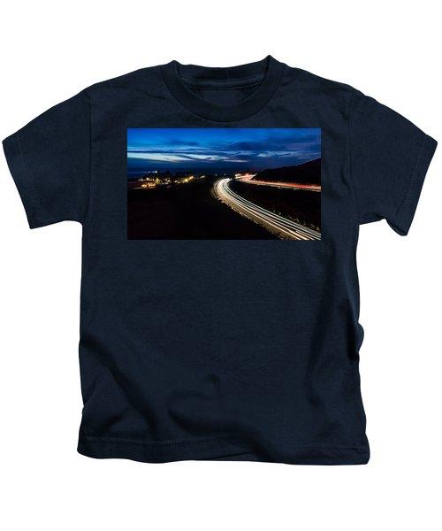 Point Vincente Light Trails Kids T-Shirt