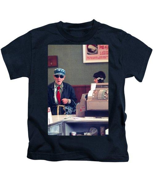 Polka Dots And Ice Cream Kids T-Shirt