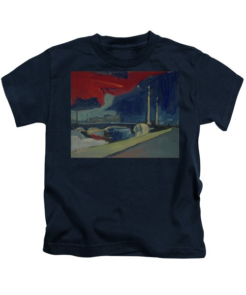 Pont Fragnee In Liege Kids T-Shirt
