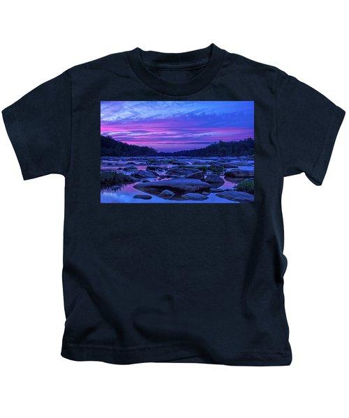 Pony Pasture Sunset Kids T-Shirt