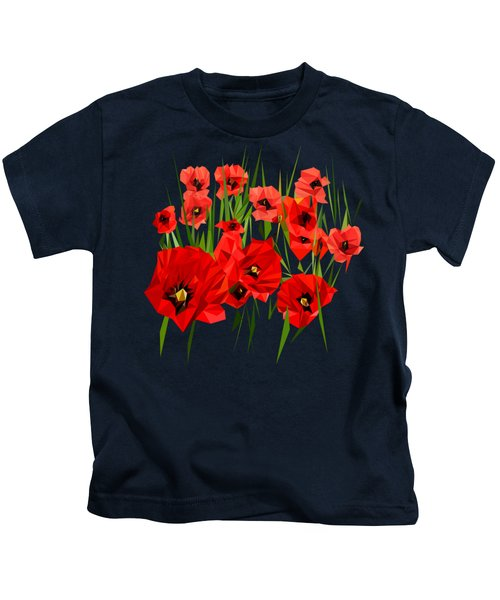 Poppies, I Remember Kids T-Shirt